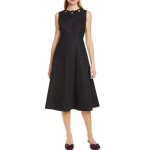 kate spade scallop cutout sleeveless midi dress